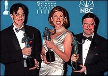 "Winning SAG award for best ensemble for ""The Birdcage"""