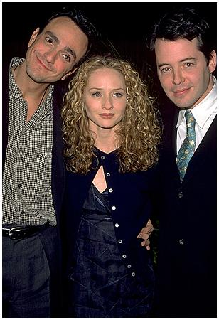 With Maria Pitillo and Matthew Broderick at '98 ShoWest awards
